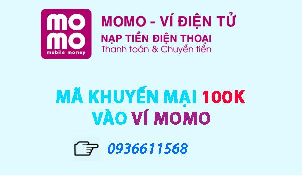 ma khuyen mai 100000 vi momo