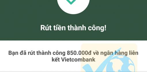 Cách rút tiền mặt từ Ví Momo chương trình khuyến mại 100K
