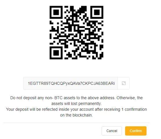 Tạo địa chỉ gửi tiền trong ví của bạn